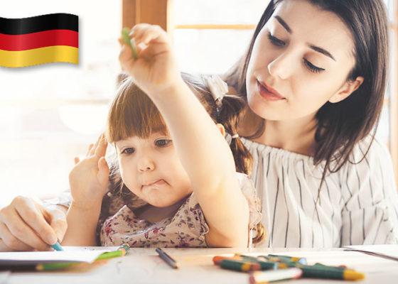 limba germana acasa si familie