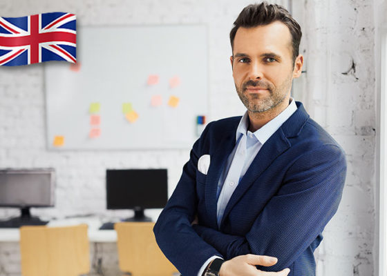 Portret de om de afaceri în costum