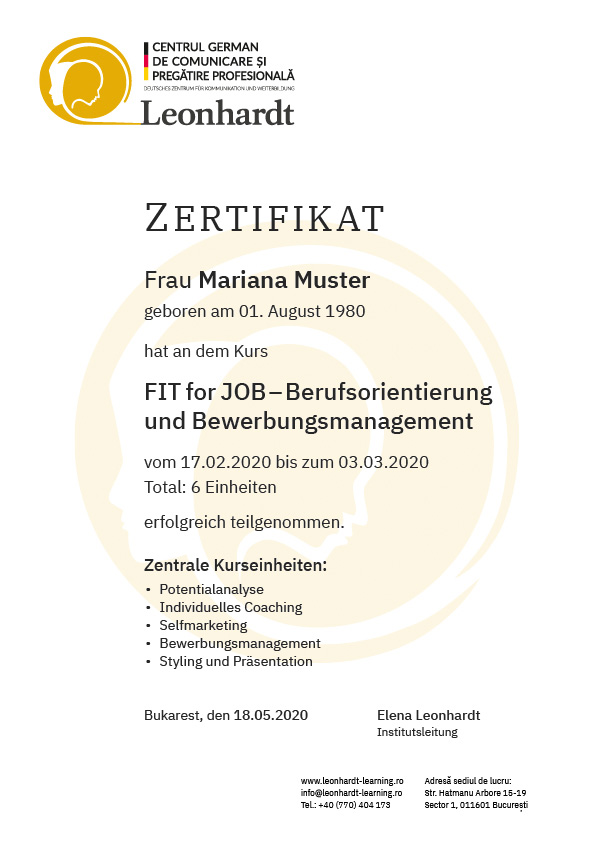 Imaginea unui certificat