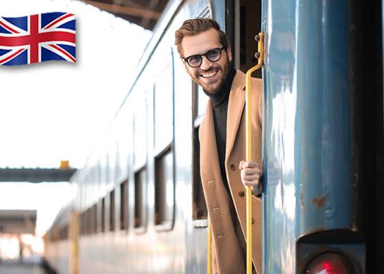 Om de afaceri abia coborând din tren